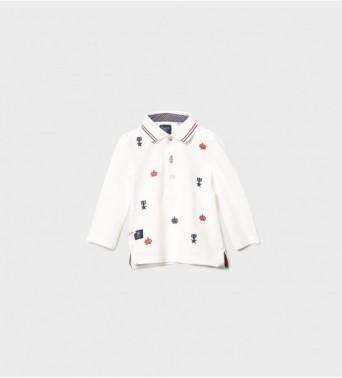 Блузка за бебе момче с якаt