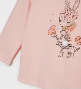 Памучна блузка за бебе момичеt