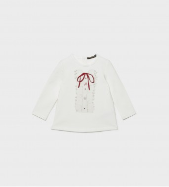 Блузка за бебе с панделкаt