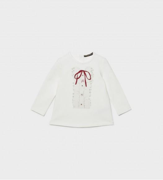 Блузка за бебе с панделка