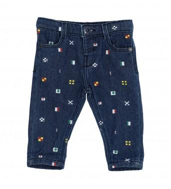 Памучен панталон за бебе момчеt