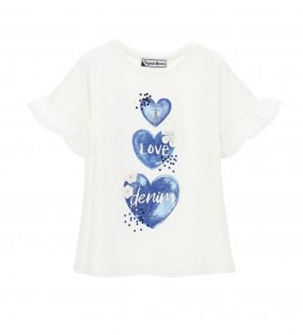 Памучна тениска за момичеt