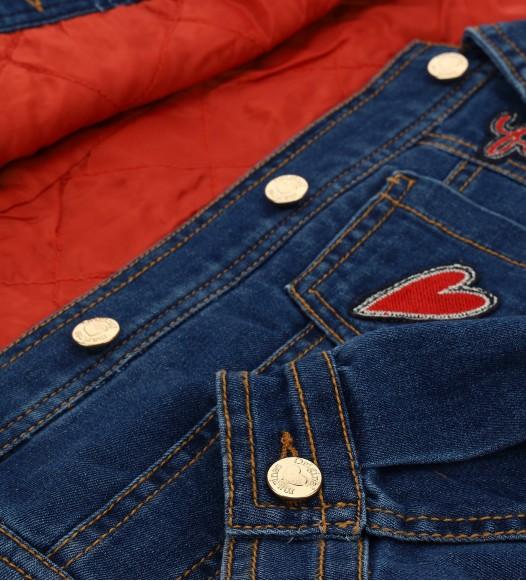 Дънково яке за момиче